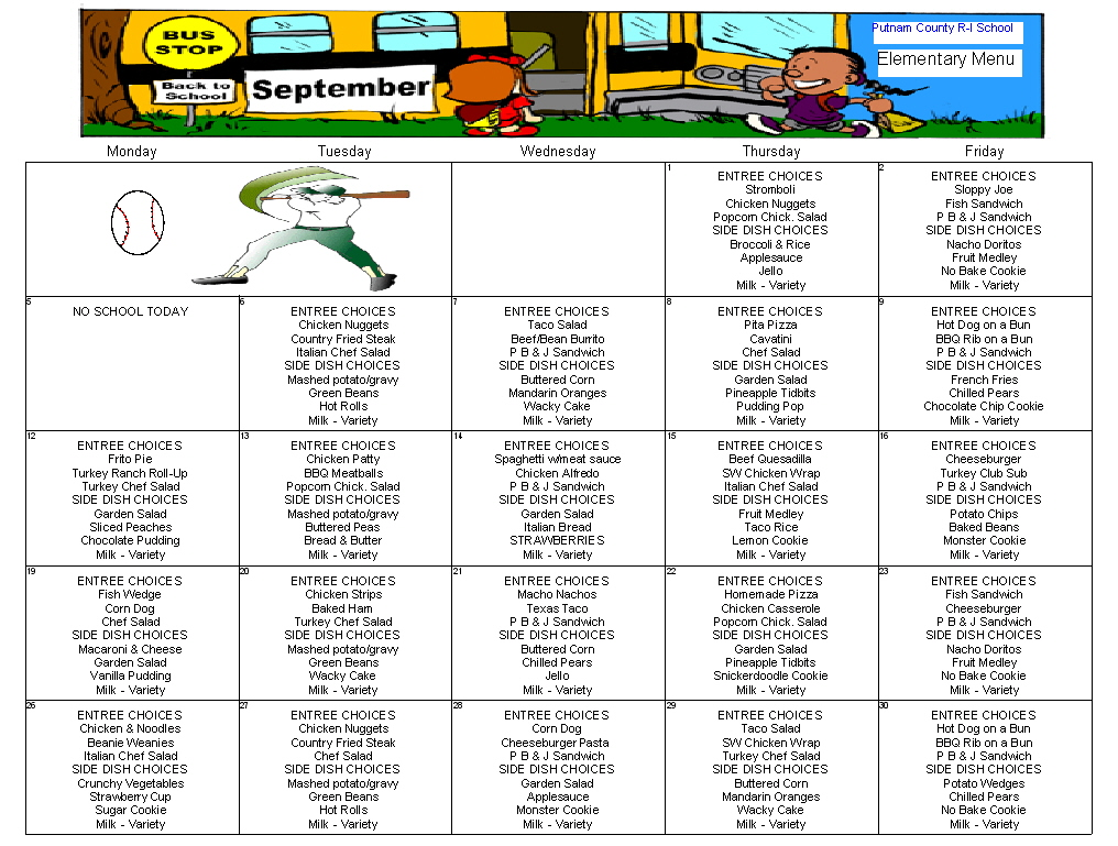 School Menu Template Here Is Preview Of Another Sample School