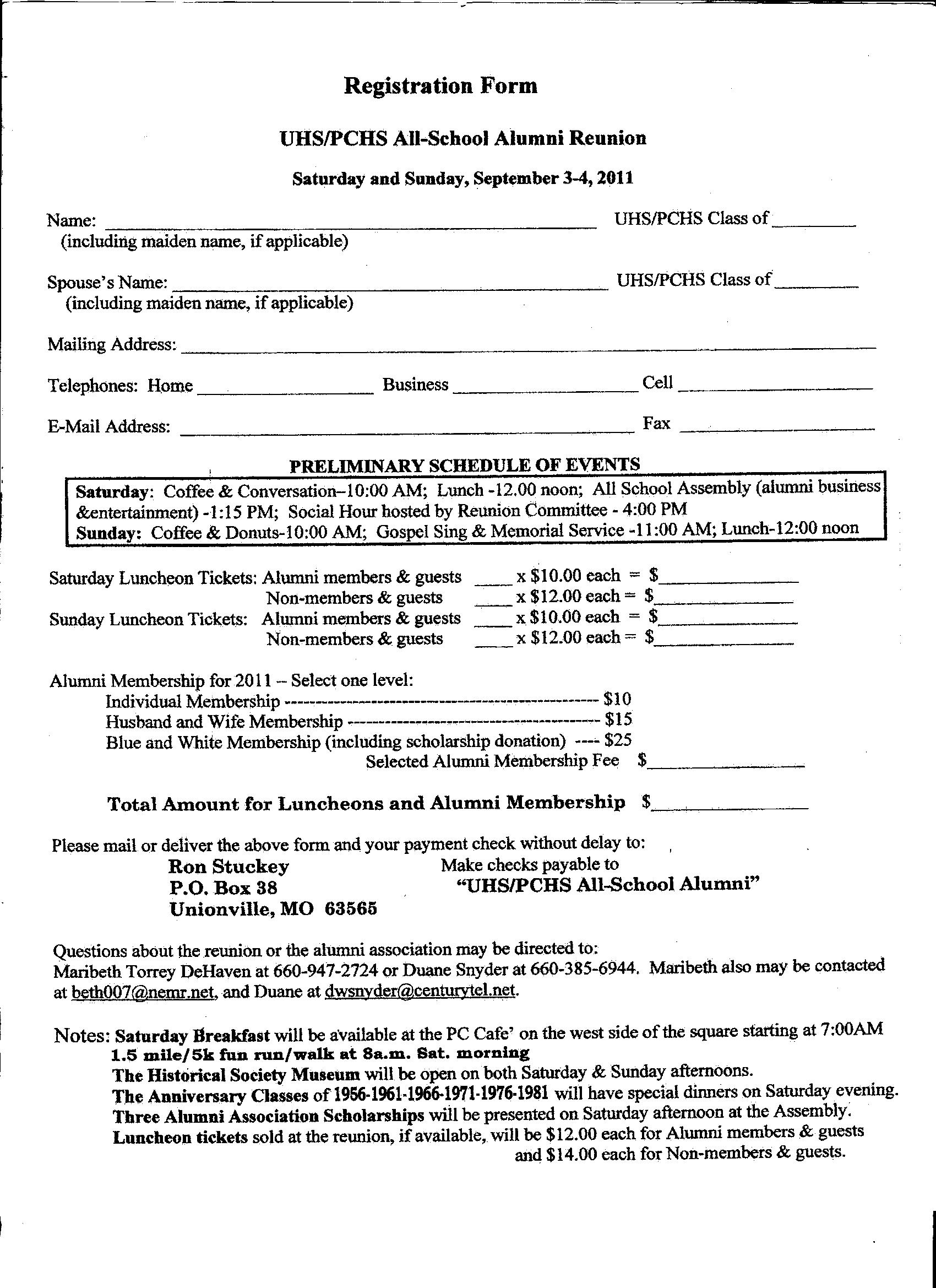 Putnam county r i schools all school reunion for Class reunion program template