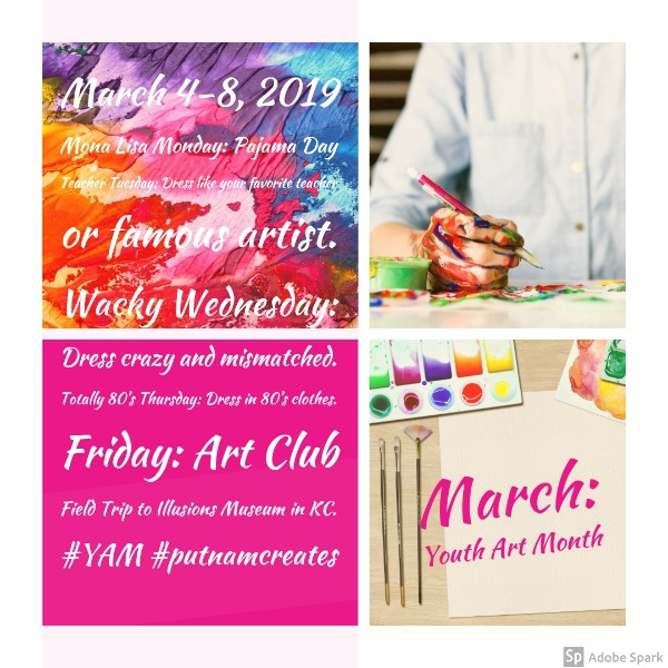 Putnam County R-I Schools - March is Youth Art Month