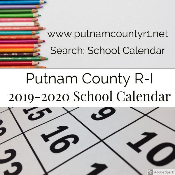 Hamilton County School Calendar.Putnam County R I Schools 2019 2020 Pcr I School Calendar